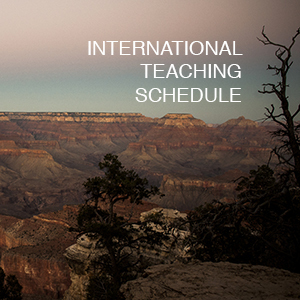 INTERNATIONAL TEACHING SCHEDULE