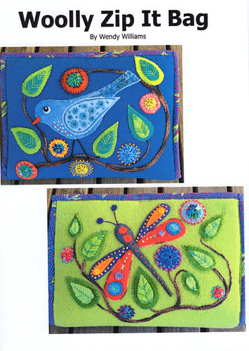 Woolly Zip It Bag Dragonfly - Pattern