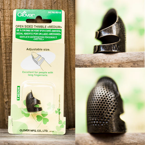 Clover Open Sided Thimble-Medium