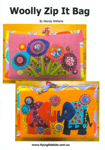 Woolly Zip It Bag Elephant - Pattern