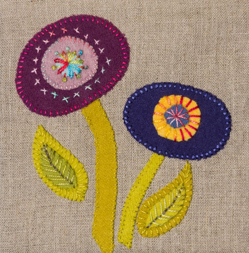Flower - Stitchery