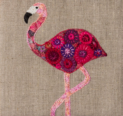 Flamingo - Stitchery kit