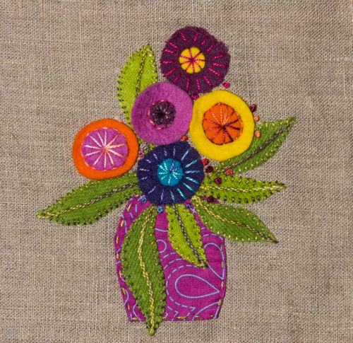 Little Vase - Stitchery kit