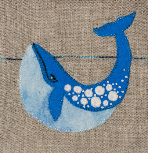 Whale - Stitchery kit