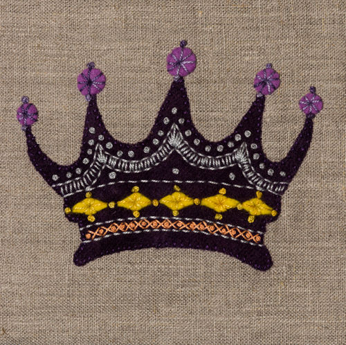 Crown - Stitchery kit