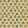 Oak Leaves - Brown Teal