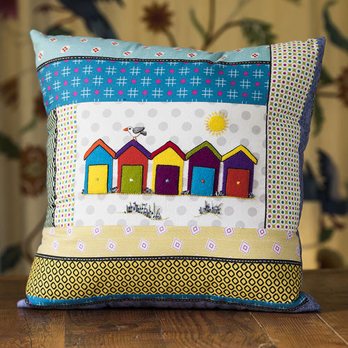 Beach Huts Cushion - Kit