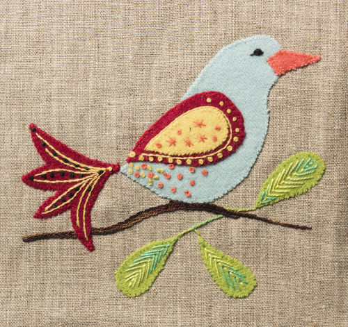 Bluebird - Stitchery kit