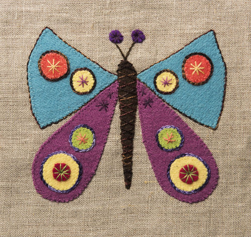 Butterfly - Stitchery kit
