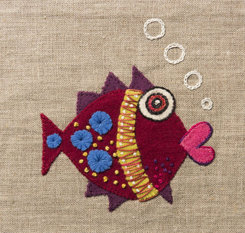 Fish - Stitchery kit