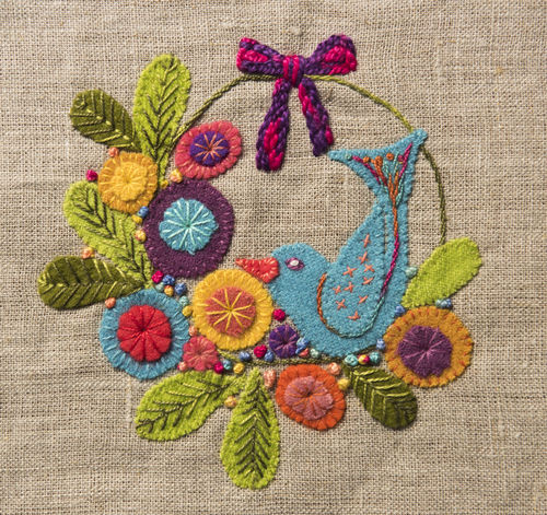 Wreath - Stitchery