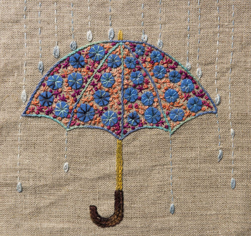 Umbrella - Stitchery kit