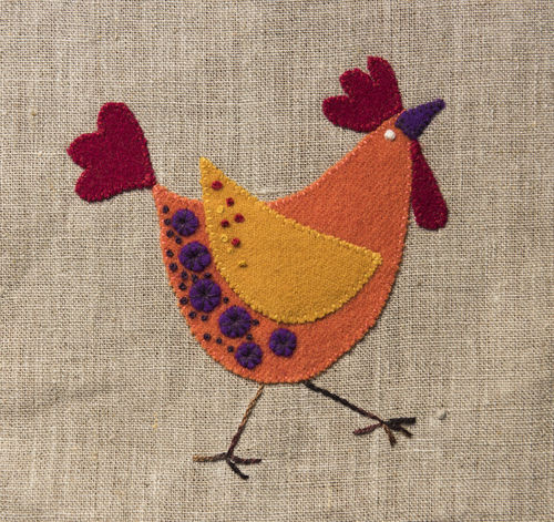Rooster - Stitchery