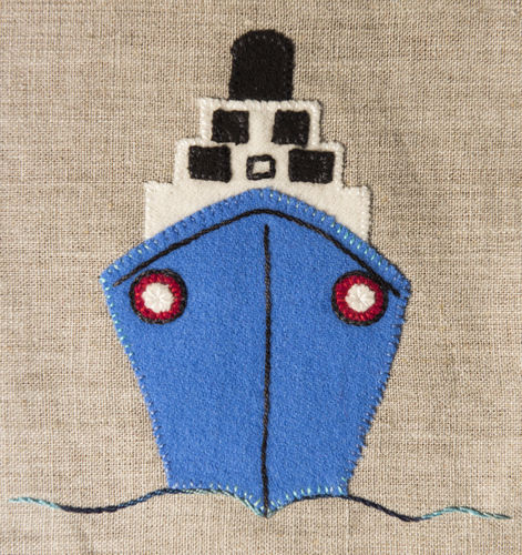 Cruise Ship - Stitchery kit