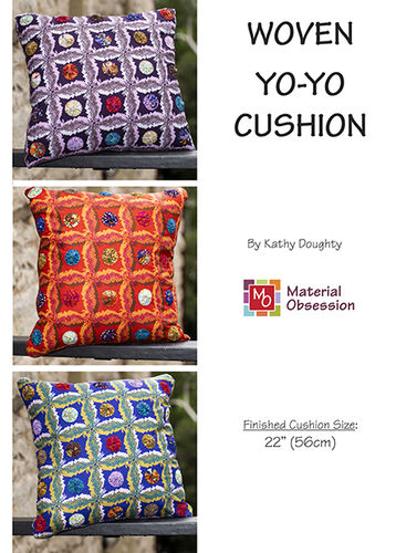 Woven Yo Yo cushion - pattern