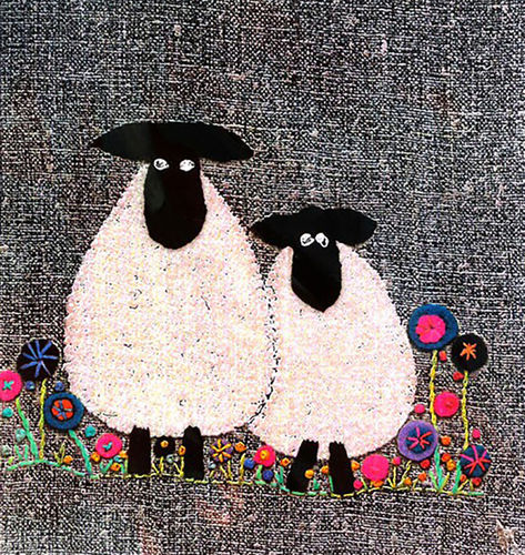 Sheep - Stitchery