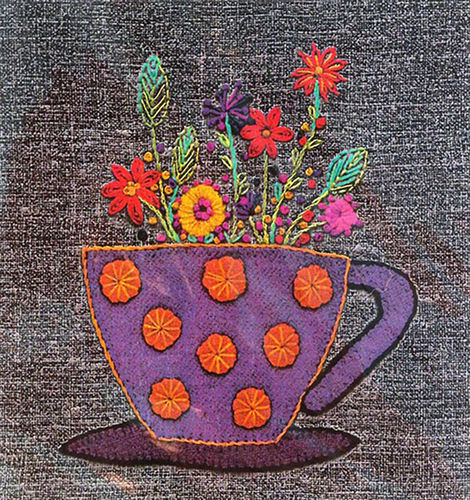 Teacup - Stitchery