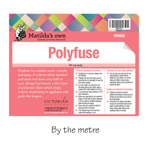 Polyfuse roll by the metre - Applique paper